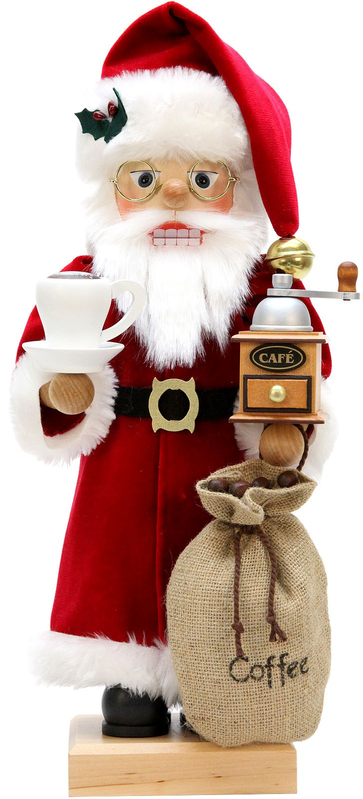 Nußknacker Weihnachtsmann Kaffeefreund