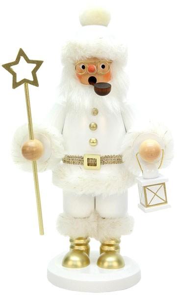 Räuchermann Weihnachtsmann weiss