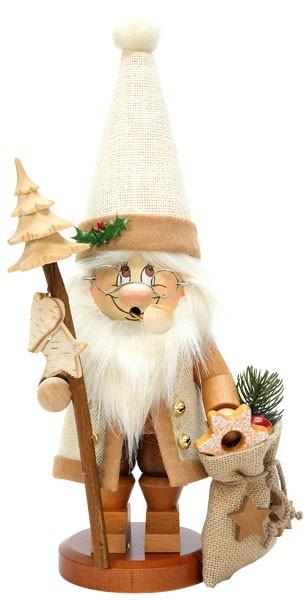 Räuchermann Wichtel Weihnachtsmann mit Stab
