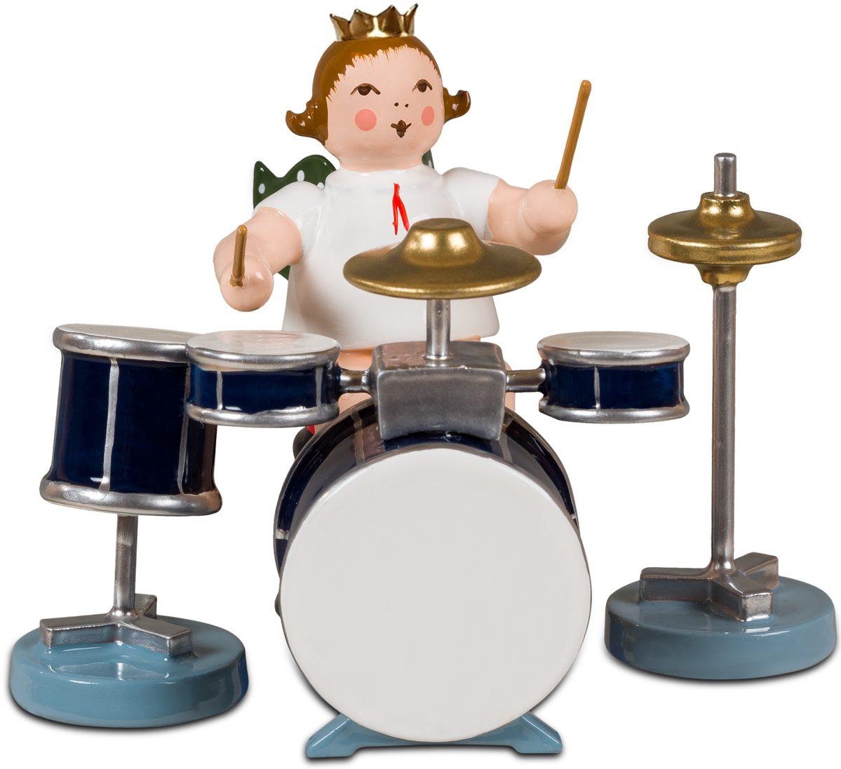 Engel mit Schlagzeug, mit Krone