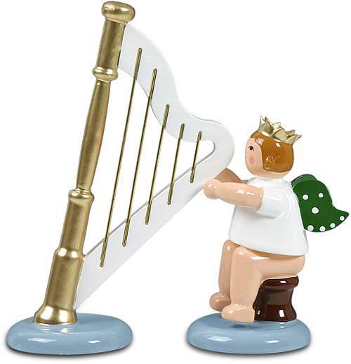 Engel mit Harfe, sitzend