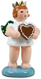 Geschenkeengel mit Pfefferkuchenherz