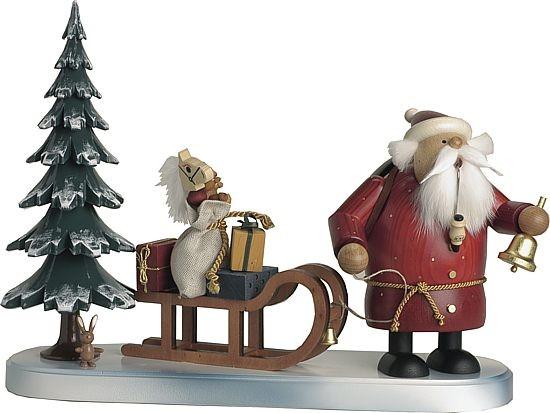 Räuchermännchen Weihnachtsmann kommt
