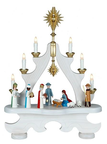 große Spitze Christi Geburt / farbig