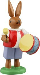 Hasenmusikant mit gr. Trommel