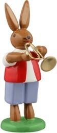 Hasenmusikant mit Jazztrompete