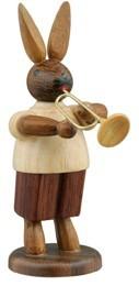 Hasenmusikant mit Jazzetrompete / natur