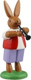 Hasenmusikant mit Klarinette