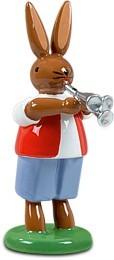 Hasenmusikant mit Martinstrompete