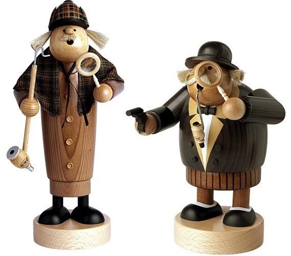 Räuchermann, Sherlock Holmes & Dr. Watson