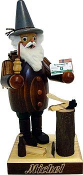 Räuchermännchen Holzmichel mit brauner Jacke
