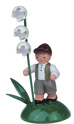 Blumenkind Junge mit Maiglöckchen
