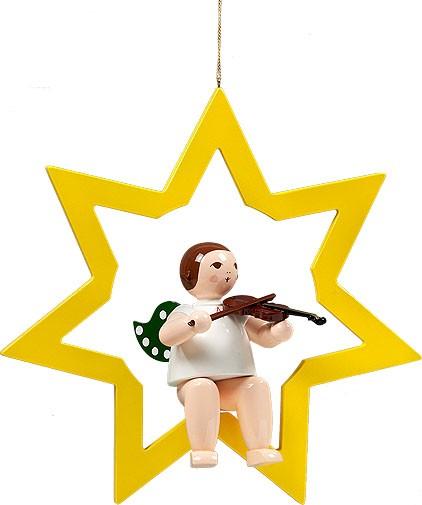 großer Engel im Stern mit Geige - hängend, ohne Krone