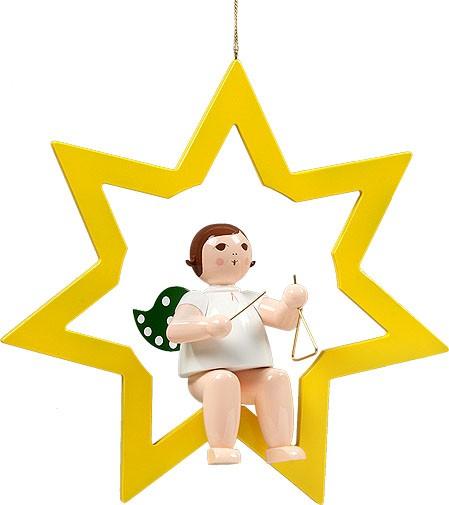 großer Engel im Stern mit Triangel - hängend, ohne Krone