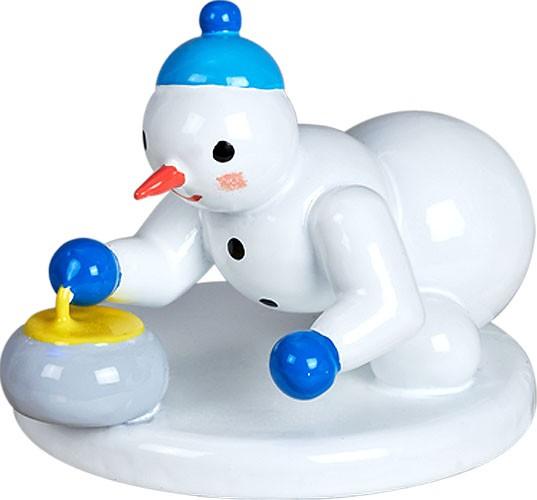 Schneemann - Curlingspieler