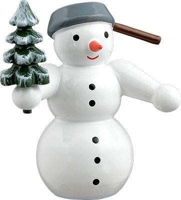 Schneemann - mit Baum