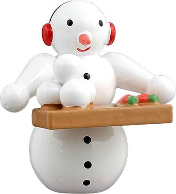 Schneemann - mit Brett