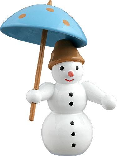 Schneemann - mit Schirm