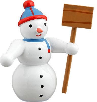 Schneemann - mit Schneeschippe