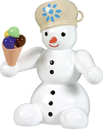 Schneemann, sitzend - mit Eis