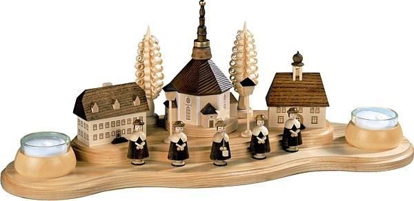 Kerzenhalter Seiffener Dorf, Teelichte, groß