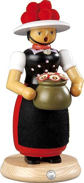 Räucherfrau Schwarzwaldmädchen, groß