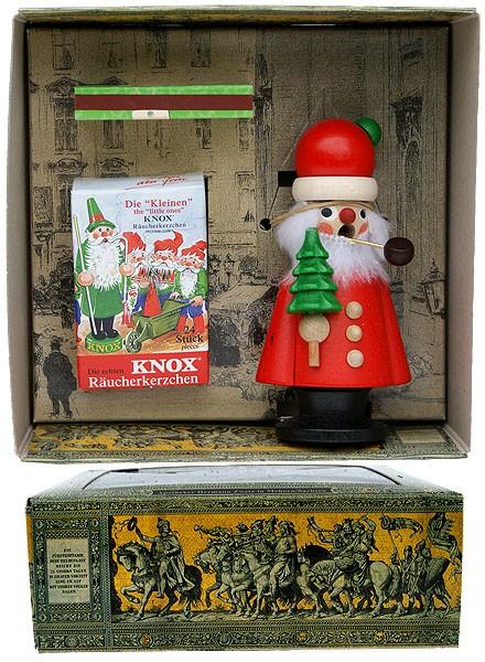 Weihnachtsmann im Geschenkkarton