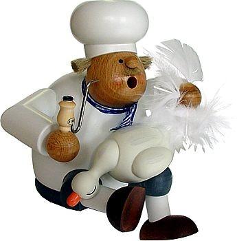 großer Kantenhocker Koch mit Gans