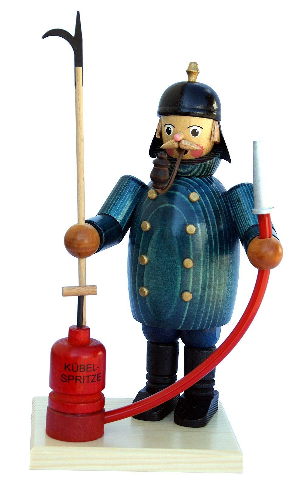 Räuchermann Feuerwehrmann mit Schlauch