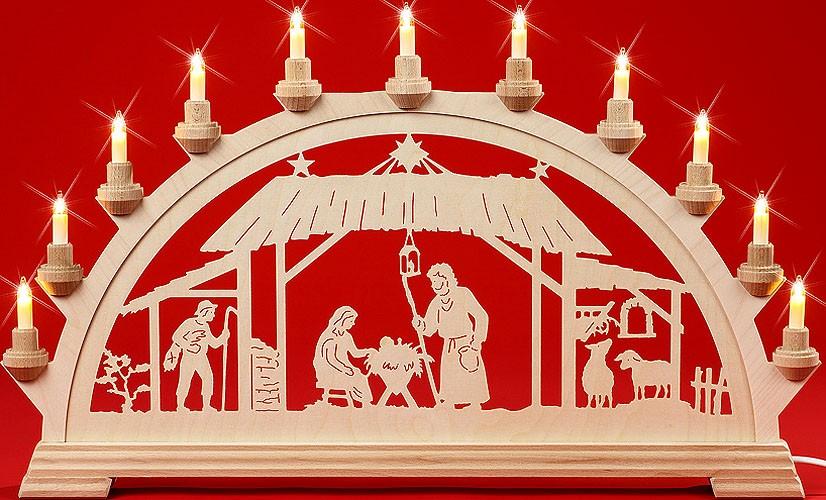 Schwibbogen Christgeburt im Stall