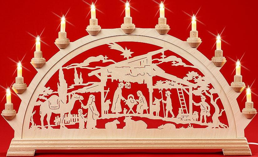 Schwibbogen Christgeburt mit 1 Kamel