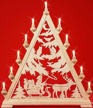 Große Spitze - Nikolaus mit Schlitten