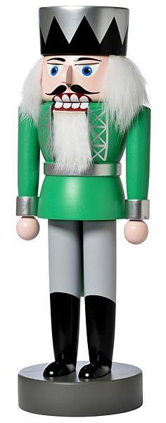 Nussknacker König, grün