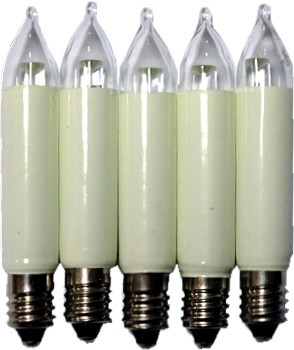 LED - Kleinschaftkerzen, 5 Stück, 8V-34Volt