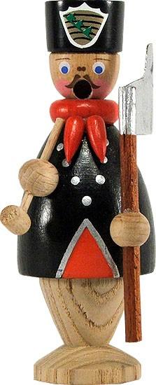 Miniatur-Räuchermann Bergmann mit schwarzem Hut