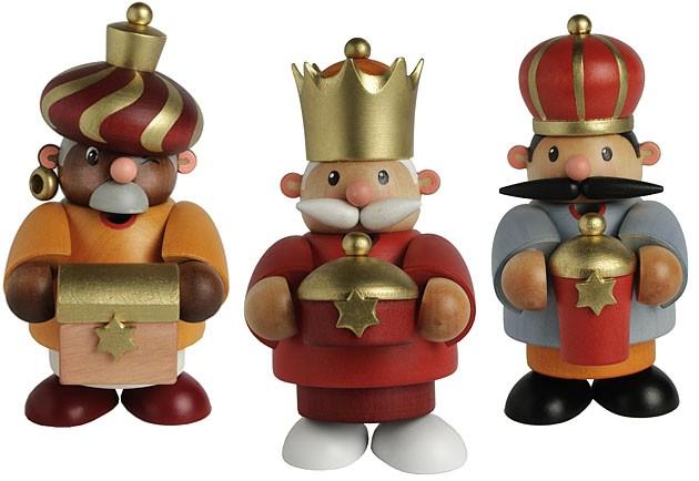 Räuchermännchen Heilige 3 Könige mini -Kleine Kerle-