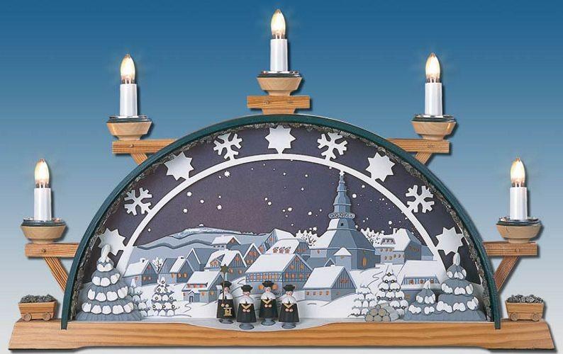Schwibbogen Sternenhimmel Schneekristalle