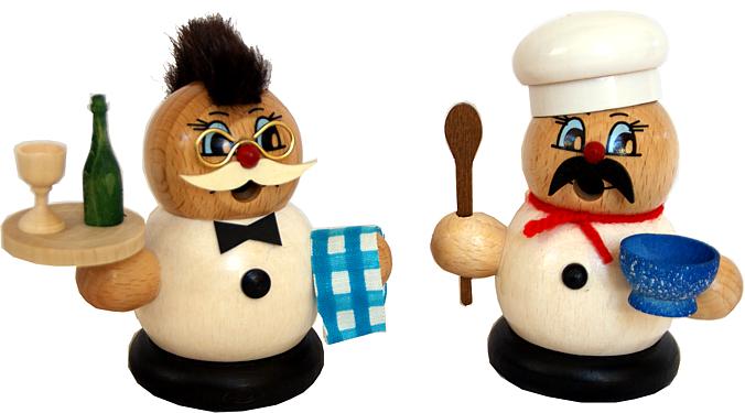 Moppelmänner -Kellner oder Koch-