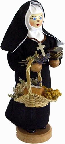 Räucherfigur Nonne, Hildegard von Bingen