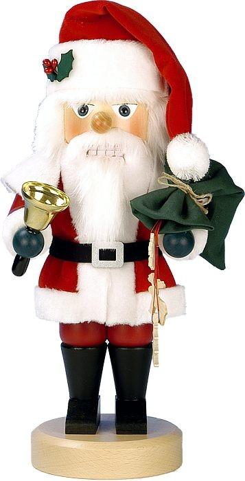 Nußknacker Santa rot mit Glocke