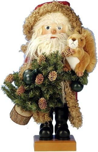 Nußknacker Weihnachtsmann mit Eichhörnchen