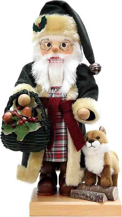 Nußknacker Weihnachtsmann mit Fuchs