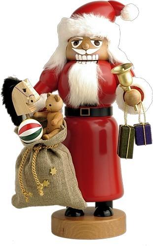 Nussknacker Weihnachtsmann mit Sack