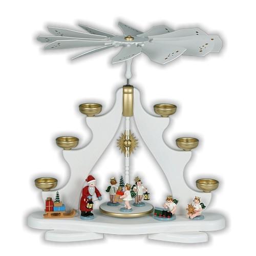 große Pyramide - Weihnachtsmann mit Engel