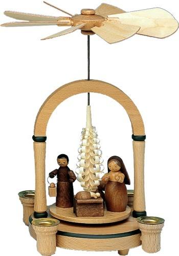 Weihnachtspyramide Christi Geburt naturfarben