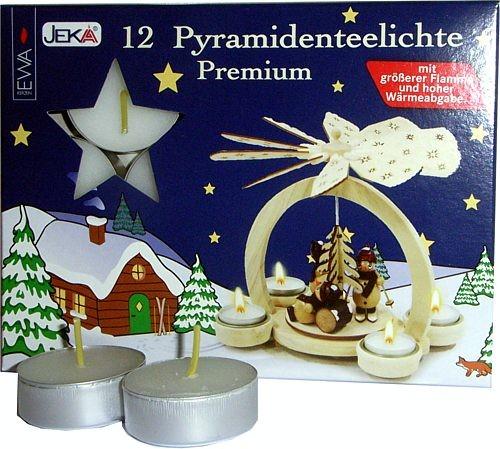 12 Pyramidenteelichte Premium