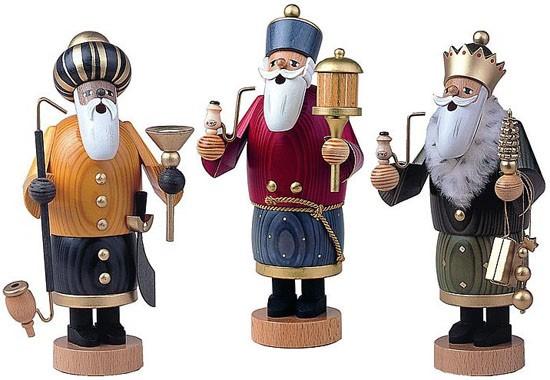 Räuchermännchen Heilige 3 Könige -Die Bärtigen-