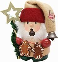 Räuchermännchen Weihnachtsmann mit Stern