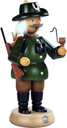 Räuchermann Förster, grün, 23 cm groß