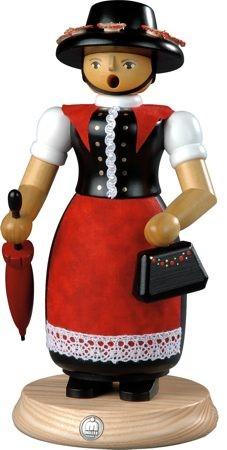 Räuchermann, Frau in Tracht, groß